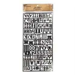 TH92908 Tim Holtz® Idea-ology™ Findings Alpha Parts - Ransom